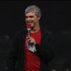 De Google, Larry Page, sube al escenario en la I / O, sostiene sesión Q & A