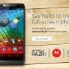 Motorola Razr i-precio en un contrato en el Reino Unido reveló que partir de £ 23 al mes