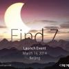 Oppo Encuentra 7 fecha de lanzamiento fijado para el 19 de marzo en Beijing