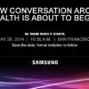 Samsung anuncia evento de salud de 28 de mayo - más hardware, versión pública del SDK de la Salud?