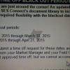 Samsung Blacks Out Retail Empleados Vacaciones por dos períodos Comenzando el 22 de marzo y 19 de abril