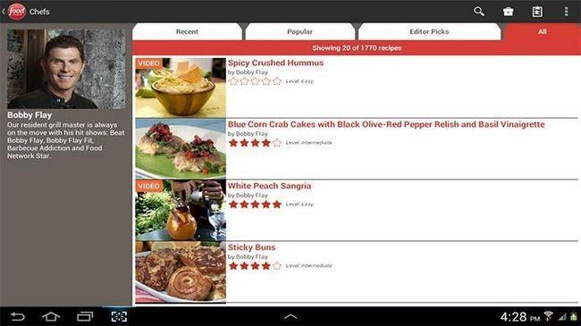 Food Network En Las Mejores Aplicaciones Android De Cocina De Cocina Y  Aplicaciones De Recetas Para